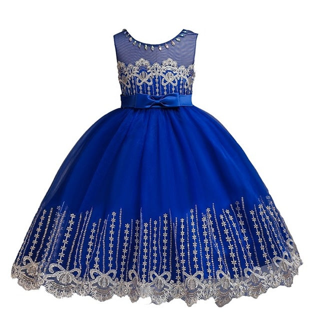 ac902ffe9e ... Hot Sale Baby Girl Princess Ball Gown Dress Flower Lace Children  Bridemaid For Wedding Party Prom ...