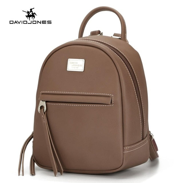 d294d3b6fb ... DAVIDJONES women shoulder bags faux leather female backpacks small lady  travel school bag girl brand softpack ...