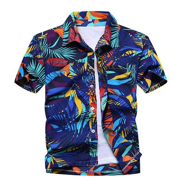 48579dfc419f ... Uwback Men s Summer Hawaiian Shirts Printed Fashion Light Beach Shirts  Short Sleeve Breathable Plus Size 5XL ...