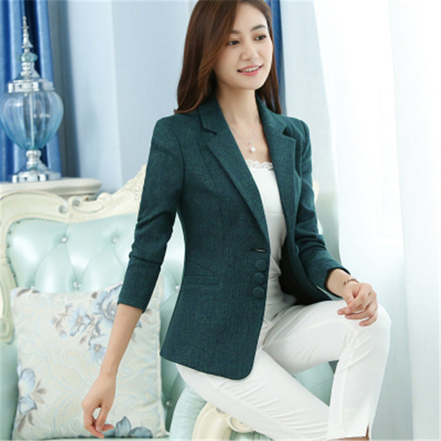 2018 Women Basic Coats Office Blazer Feminino Elegant Blazer Jacket