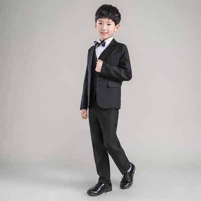 c5fe0aa657b ... high quality fashion black baby boys suit kids blazers boy suit for weddings  prom formal spring