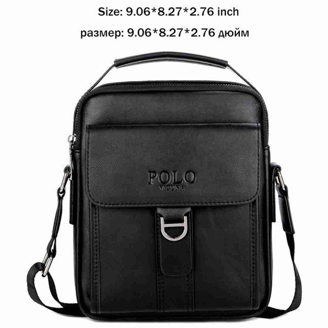 f8cb75db8bc ... VICUNA POLO Vintage Leather Men Shoulder Bag Casual Tote for Daily Business  Messenger Bag Famous Brand