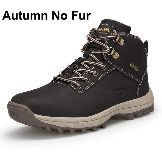 c15e14b789 Winter Men Boots With Fur & Canvas Fashion Ankle Snow Boots Non Slip ...