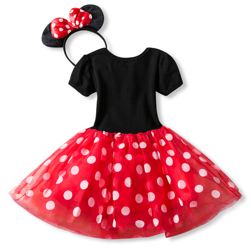 e5430da2144cf Fancy 1 Year Birthday Party Dress For Halloween Cosplay Minnie Mouse Dress  Up Kid Costume Baby Girls Clothing For Kids 2 6T Wear