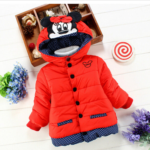30c6e4ea0 ... Big Size Baby Girls Jackets 2018 Autumn Winter Jacket For Girls Winter  Minnie Coat Kids Clothes ...