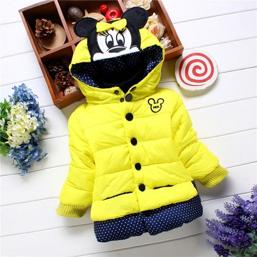 684202c3e ... Big Size Baby Girls Jackets 2018 Autumn Winter Jacket For Girls Winter  Minnie Coat Kids Clothes