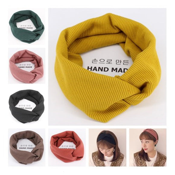 winter adult Hairband crochet knitted Wool headbands for hair head band turban headband head wrap bands ribbon women accessories