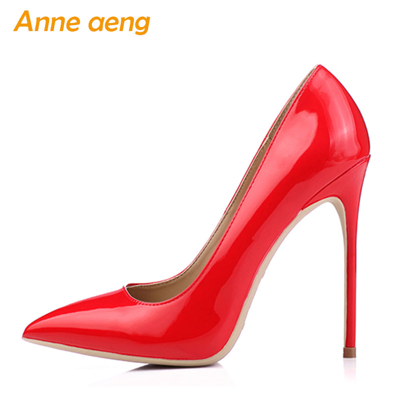 37285234eead Women shoes 8cm 10cm 12cm High Heels Women Pumps Sexy Ladies Shoes Pointed  Toe Classic Red ...