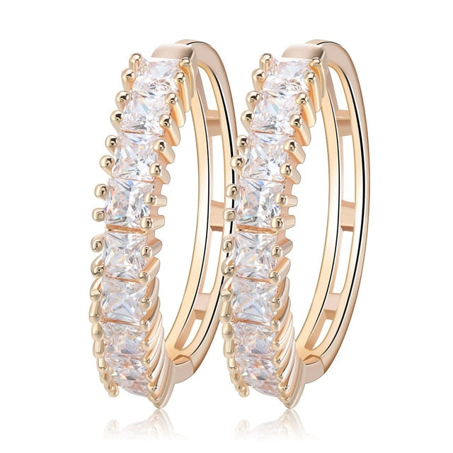 823a40d07 ... Effie Queen Cute Romantic Style Earrings Jewelry Gold -color Paved with  AAA Cubic Zircon Stud
