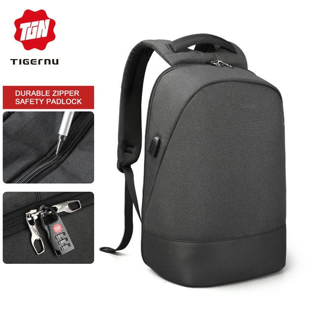 6e0a00d736 ... Tigernu USB Charging Waterproof Anti Theft Backpack 15.6 inch Laptop  Backpack Men Mochilas for Teenagers Backpack ...