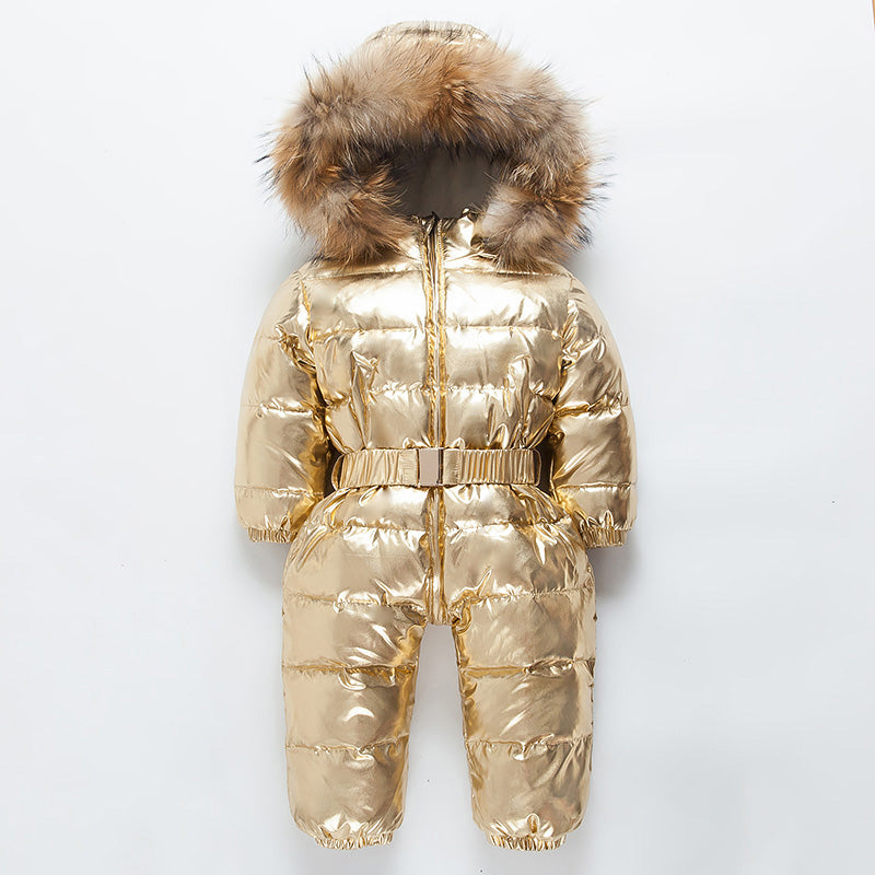 839d0d6a0 2018 Winter Baby Romper Infant Girl Snow Wear Coat Newborn Snowsuit Toddler  Waterproof Jacket Duck Down ...
