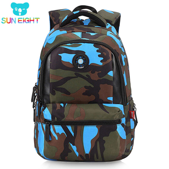 SUN EIGHT Causual Camouflage Men Backpack Bag Travel Backpack Bags For Cool Boy Military School Bags For Boy Out Side