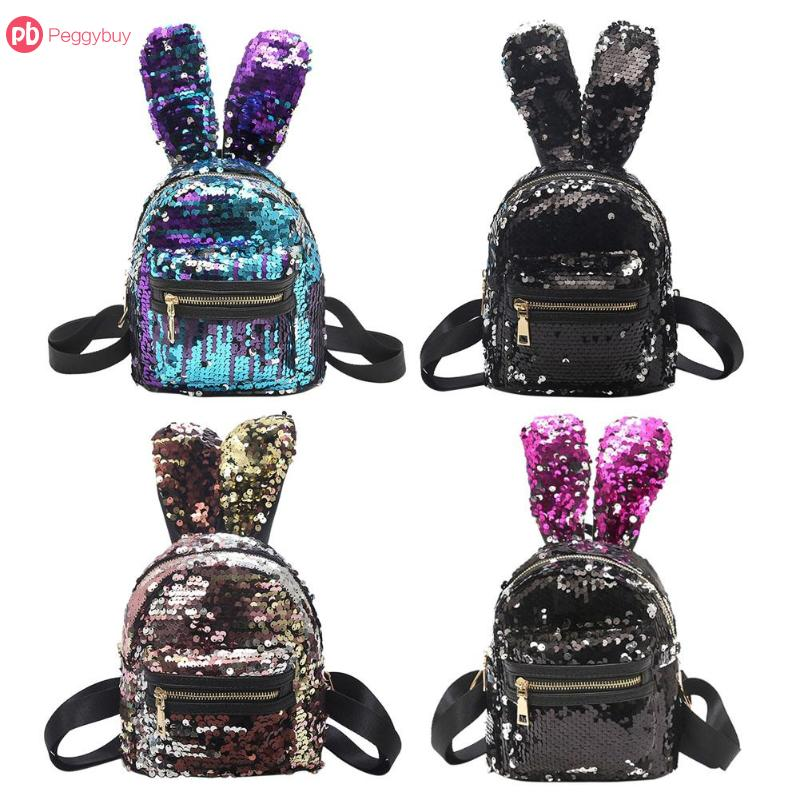 Popular Brand New Baby Girl Backpack Childrens Bag Fashion Cute Rabbit Ears Double Shoulders Backpack Baby Backpack Accessories Mother & Kids