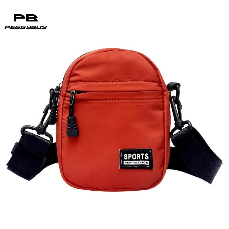 Men Women Messenger Bags Nylon Mini Crossbody Bag Unisex Shoulder Bag Fashion Small Handbags Casual Pack For Teenage Girls Boys