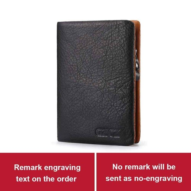 4976ad78a7d51 ... 2018 New Genuine Leather Men Wallet Purse Male Fashion Design 3 Size  Custom Made Wallets Gift ...