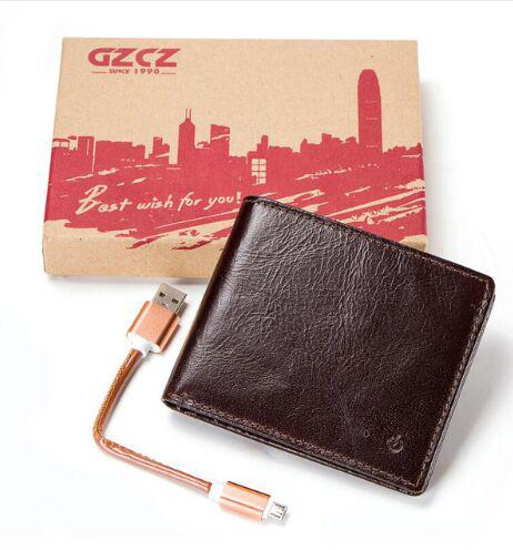 GZCZ 2018 New Rfid Men Wallet Real Leather Short Coin Purse Classical  Bluetooth Anti theft vallet Clutch portefeuille homme