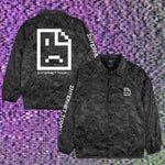 INTERNET TODAY® | SAD FACE 3D CAMO COACH JACKET (BLACK) LIMITED EDITION