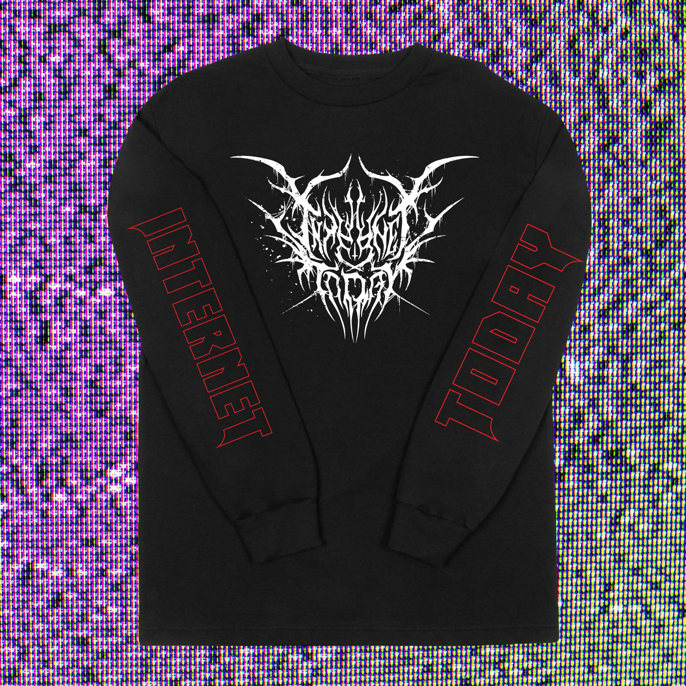 INTERNET TODAY® | BLACK METAL LONG SLEEVE TEE (BLACK) LIMITED EDITION