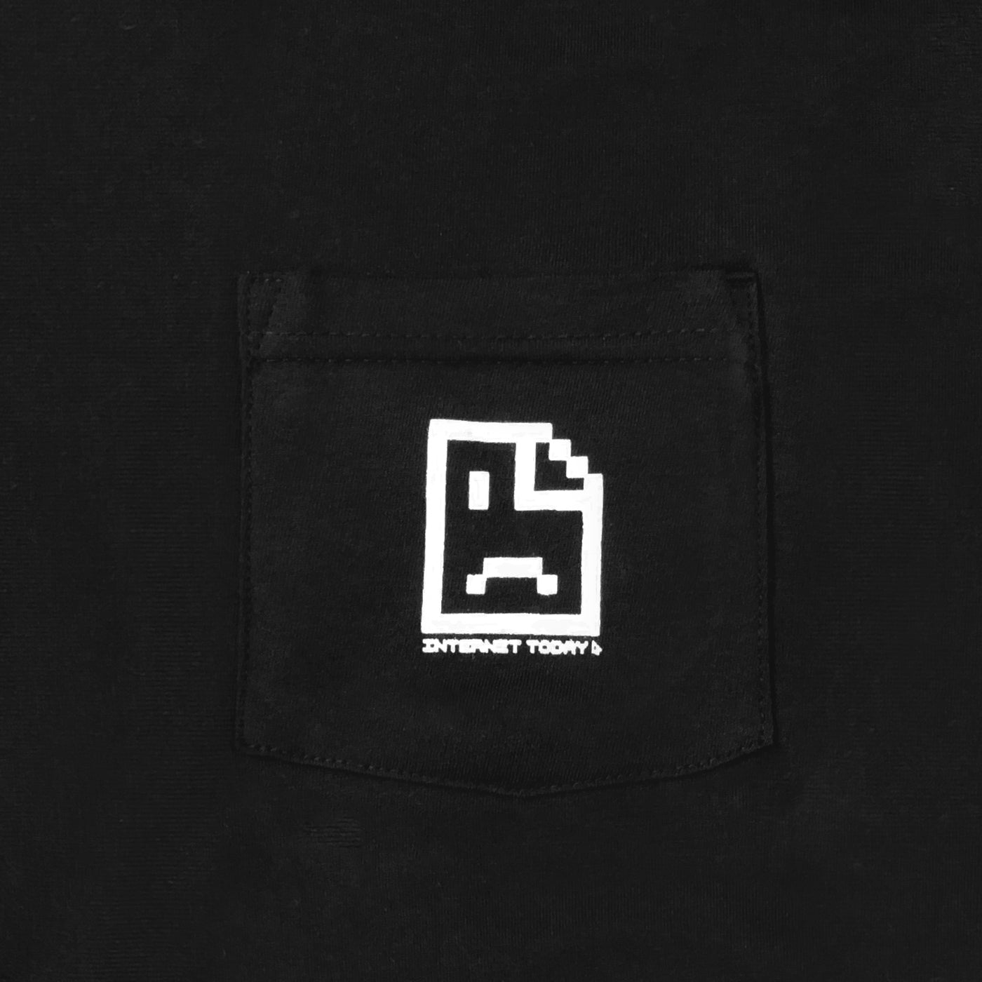INTERNET TODAY® | SAD FACE POCKET TEE (BLACK) LIMITED EDITION