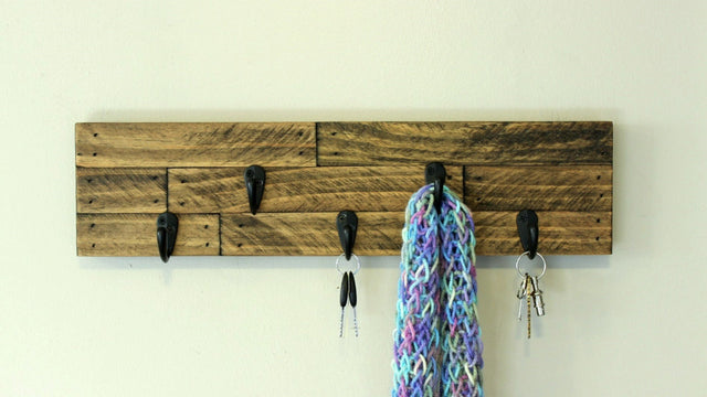 This little Hat and Scarf rack works great in small spaces!