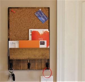 Corkboard with Front Mail Slot