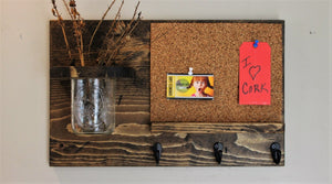 Corkboard with Jar Organizer