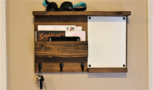 Dry Erase with Top Shelf Mail Organizer