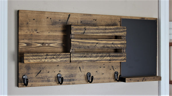 Phone Shelf, Mail Holder, and Chalkboard Mail Organizer