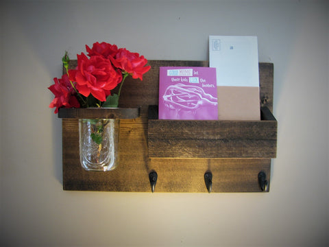 Mail Holder Box and Mason Jar