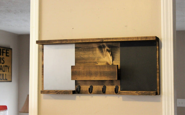Magnetic Board and Chalk Board with Shelf
