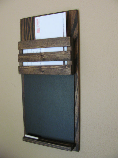 Mail Holder with Chalk Board Below