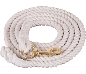 9 1/2 Foot White Cotton Lead Rope (cottlead)