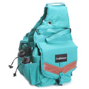 Deluxe Turquoise Poly Saddle Bag (248-680)