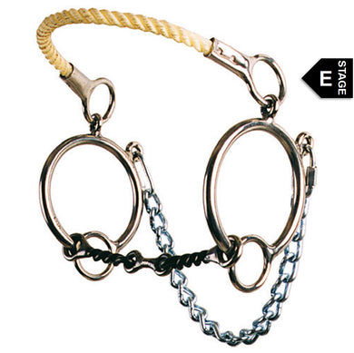 Ring Combination Rope Nose Hackamore