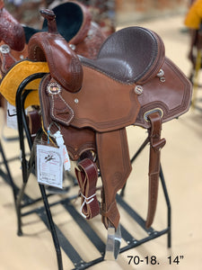 "Bronco Billy's Chocolate 14"" Barrel Saddle (70-18)"