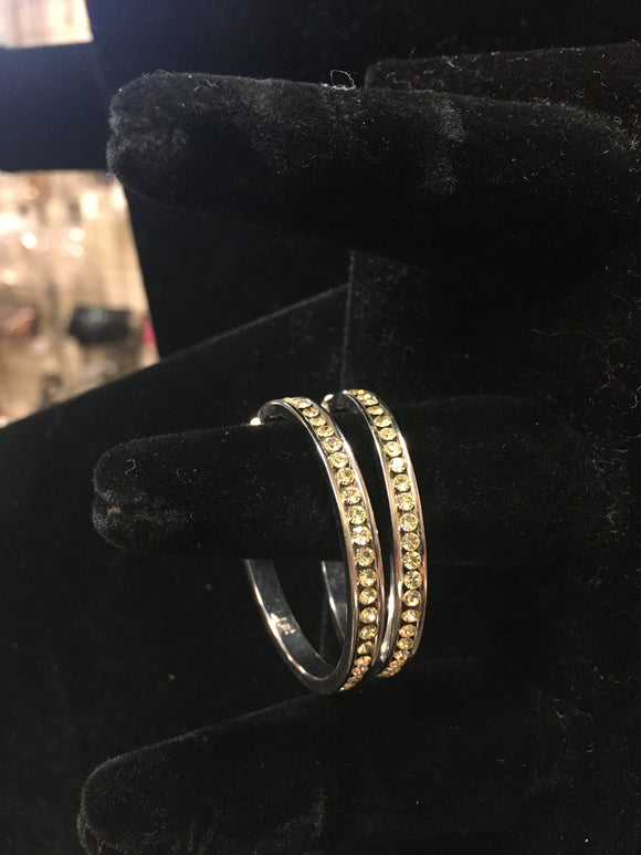 Small White  Hoop Earrings (HWHE)