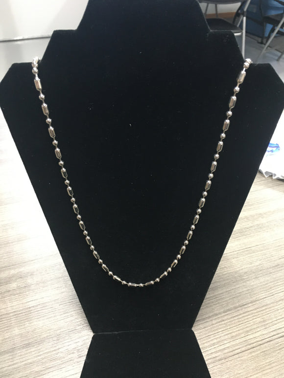Silver Barrel Chain Piece (NBACH)