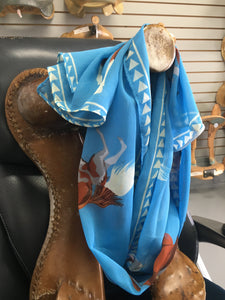 Light Blue Multiple Horse and Arrow Scarf (SBBRAR)