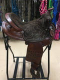"Used 15"" Chocolate Barrel Saddle"
