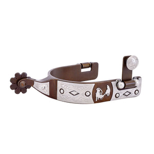 Offset Roping Motif Men's Spurs (250204)