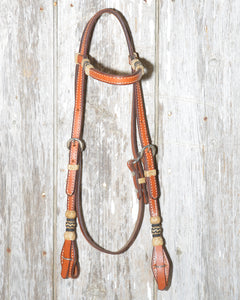 Bronco Billy's Headstall w/rawhide