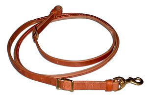 Rolled Leather Roping Reins (H500)