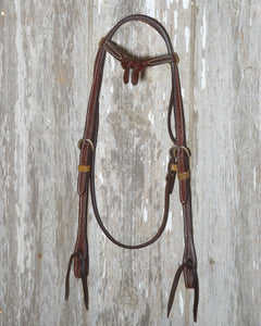 Bronco Billy's Headstall Tie Front Browband  (BBGL-TFTD)