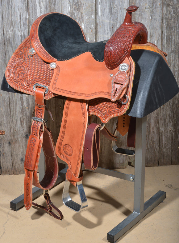 Chestnut Barrel Saddle (36-18)