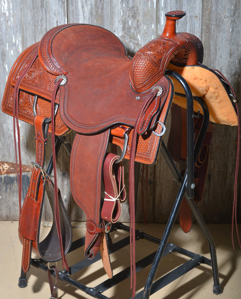 "Bronco Billy's Chestnut 16"" Elite Ranch Cutter Saddle"
