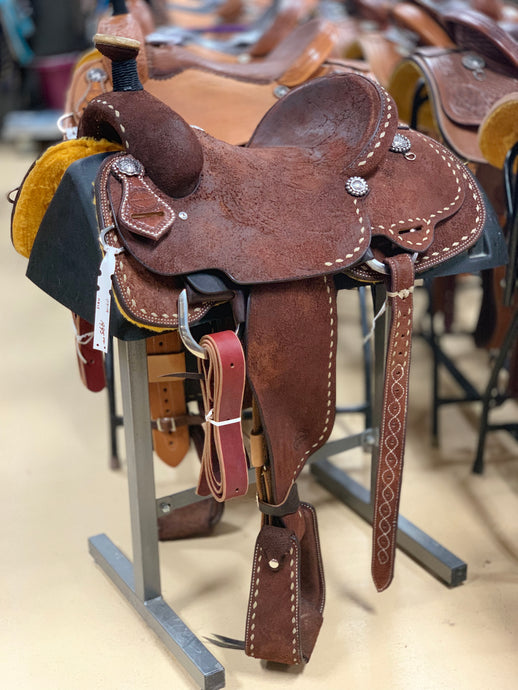Bronco Billy's Roper in Chocolate Roughout w/ Tan Buckstitch
