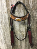 Rafter T Ranch Painted Daisy Browband Headstall (BB3965)