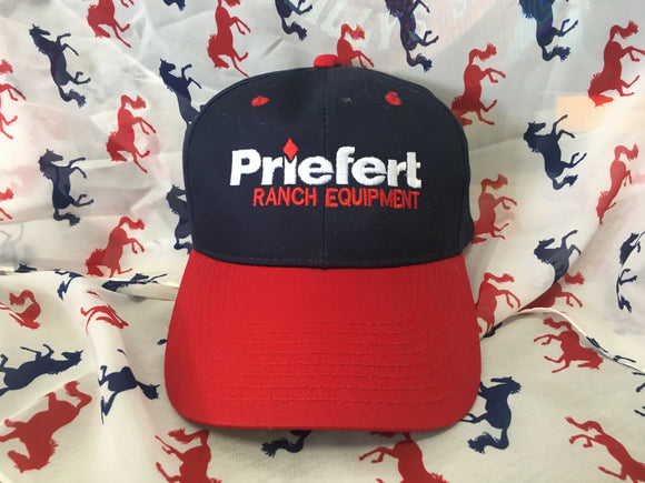 Navy & Red Priefert Hat (PRHANR)