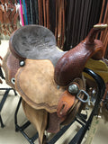 Used Double C 15-inch Barrel Saddle (19-829)