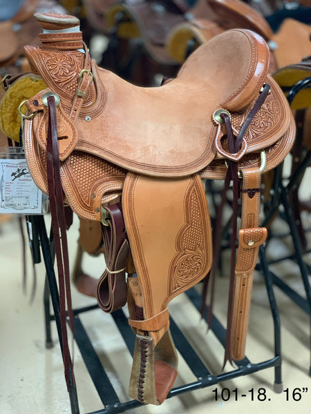 "Bronco Billy's 16""Light Oil  Wade  Saddle (101-18)"